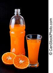 orange juice in bottle