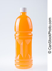 orange juice in bottle