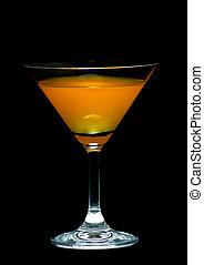 Orange juice in cocktail glass