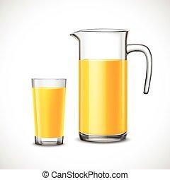 Orange Juice In Glass And Jug