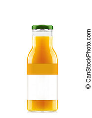 Orange juice in glass bottle
