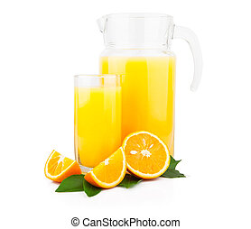 Orange juice in glass jar