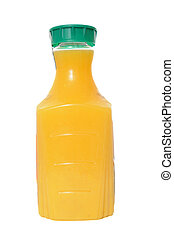 Orange Juice in Plastic Container - Orange juice in a...