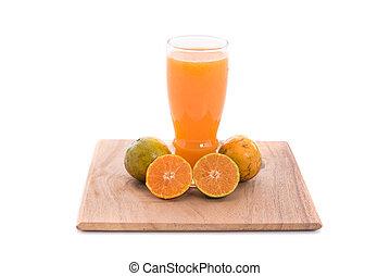 Orange juice isolated