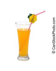 Orange juice isolated on the white background