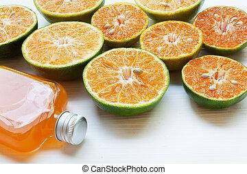 Orange juice isolated on white background.