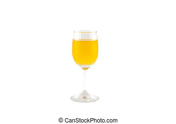 Orange juice isolated on white.