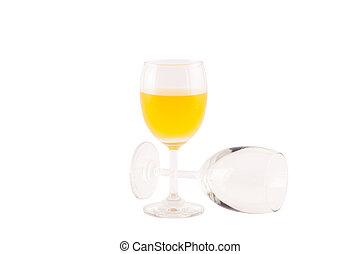 Orange juice isolated on white.