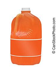 Orange juice. Isolated