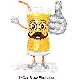 orange juice mustache