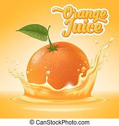 Orange juice - Natural orange juice label design template. ...