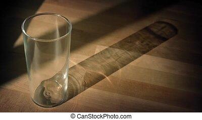 Orange Juice Poured Into Glass