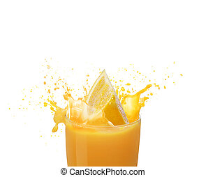 Orange juice splashing