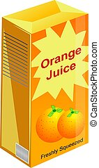 Orange Juice - Freshly squeezed orange juice in a carton.