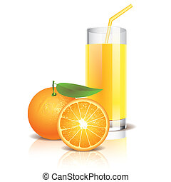 Orange juice vector illustration - Orange juice isolated on...