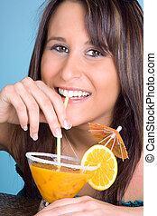Orange juice with a smile