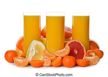 Orange juice with citrus