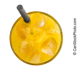 Orange juice with ice