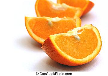 Orange - Juicy appetizing orange on white background