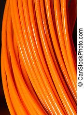 orange, kabel