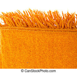 orange, kariert, wolle, aus, weißes