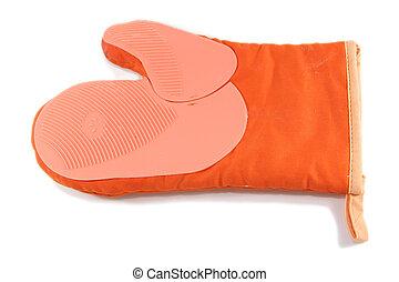 orange kitchen mitt