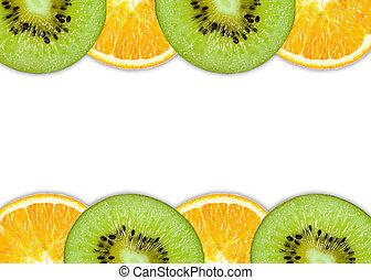 Orange kiwi slice