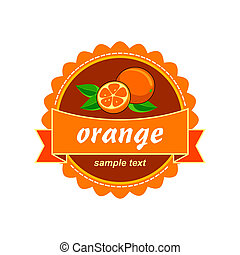 orange label.