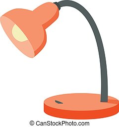 Orange lamp, illustration, vector on white background.
