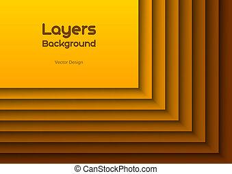 Orange Layeres - Orange background as many layers. Vector...