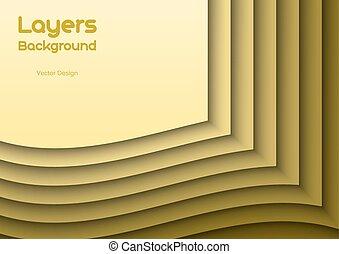 Orange Layeres - Orange background as many wavy layers....