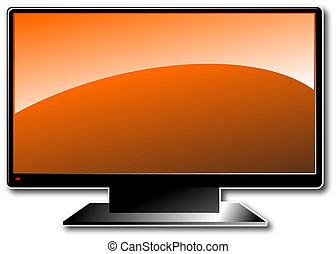 orange, lcd