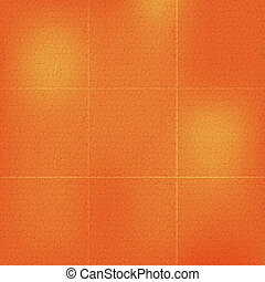 Orange Leather Background, Texture. Vector Illustration