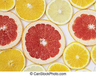 orange lemon and grapefruit slices