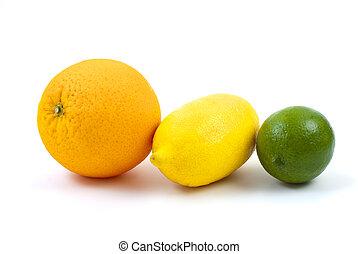 Orange, lemon and lime