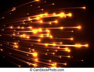 orange licht, neon, rays.