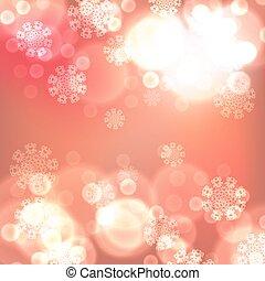 orange, lichter, weihnachten, hintergrund