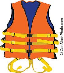 orange life jacket - design of orange life jacket for safety...