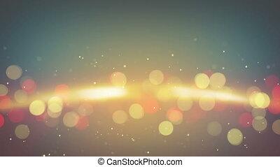 orange light flares abstract back