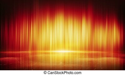 orange light lines and reflection loop background