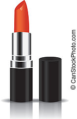 orange lipstick vector