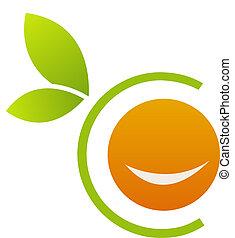 orange, logo