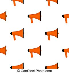 Orange loudspeaker pattern flat