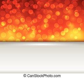 orange, lumières, fond