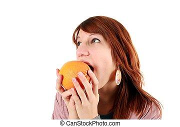 orange, m�dchen