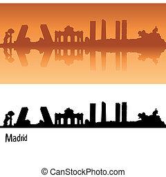 orange, madrid, skyline, hintergrund