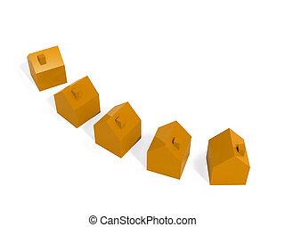 orange, maisons