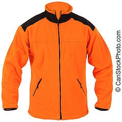 orange male sport jacket isolated on white