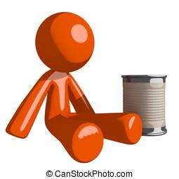 Orange Man Beggar