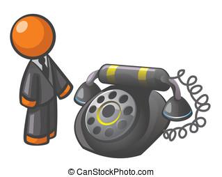 Orange Man Classic Phone - Orange Man classic phone, for a...
